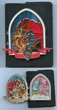 Disney Paris Disneyland Sleeping Beauty Kiss Fairies Stained Glass Jumbo Box Pin