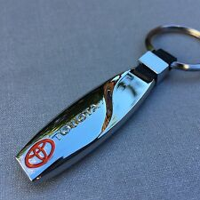 NEW TOYOTA LOGO METAL CHROME KEYCHAIN KEY-CHAIN Key Ring KC05