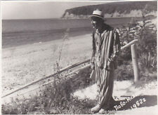 1952 Handsome young man in pajamas beach gay interest old Soviet Russian photo