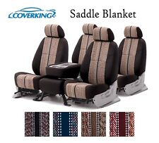 Coverking Custom Seat Covers Saddle Blanket Front and Rear Row - 4 Color Options