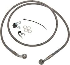 Drag Specialties Extended Stainless Steel Front Brake Line Kit 49 3//4in Clear