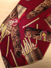 Cigars & Matches Imported Silk Necktie - Beans McGee Tie - Free Shipping!