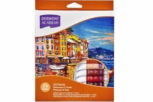 Derwent Academy Oil Paints - 24 Pack Artist Supplies Paint Tubes Art Craft
