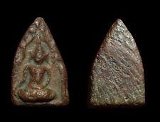 Phra Khunphaen  Kru Ban Krang  Na Mongkhon Phim Lek.Thai Amulet Buddha Rare.