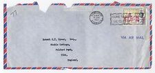 1963 BERMUDA Air Mail Cover Front HAMILTON To YORK GB SLOGAN Speer SG172