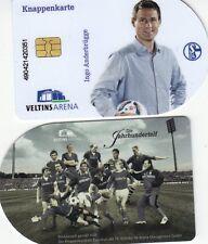 Knappenkarte + FC Schalke 04 + Ingo Anderbrügge Jahrhundertelf + Hülle Restguth.