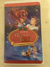 Beauty and the Beast The Enchanted Christmas - Special Edition - VHS *Clamshell*