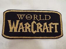 """Gold World of Warcraft 5"""" Embroidery Iron-on Patch (E13)"""