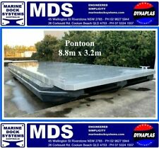 8.8m x 3.2 PONTOON PARTY FISHING HOUSE BOAT WORK RIVER BARGE 4000KG PAY LOAD NEW