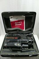 GE HQ MOVIE VIDEO SYSTEM MODEL CG-9815 VHS CAMCORDER INCLUDES HARD CARRYING CASE