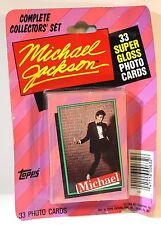1984 MICHAEL JACKSON~ Topps Collectors Set ~33 super gloss photo-cards NEW pkg