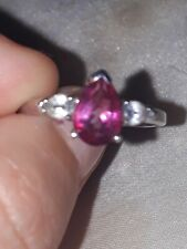Genuime Mystic Pink Topaz Sterling Silver Ring, 925 ~ UK Size N