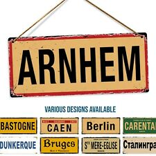 Metal Wall Sign - Various WW2 Street Signs Holland France Germany Belgium Russia