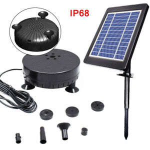 3.5W Solar Fountain Pump Submersible Water Pump for Garden Pond Pool+LED Lights