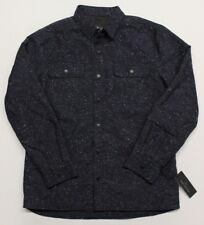 Men's Marc Anthony Slim Fit Wool Blend Jacket w/ Quilted Lining Peacoat Blue - L