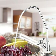 """1/4"""" Reverse Osmosis System Kitchen Chrome RO Water Drinking Filter Faucet Tap"""