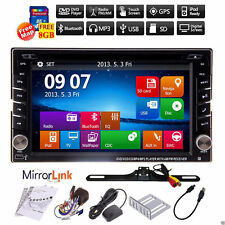 Double 2Din Car Stereo DVD Player GPS Navigation Bluetooth iPOD+Backup Camera