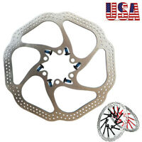 160/180/203mm Front Rear Rotor MTB Bicycle Parts Disc Brake Rotors & 6 Bolts
