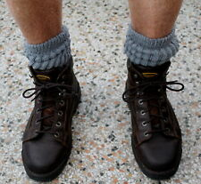 4 Men's Charcoal Slouch to Knee Socks Sz 7-10 Flaws Hooters Long Heavy Boot