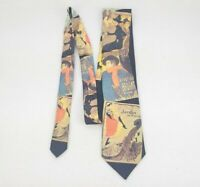Ralph Marlin Toulouse-lautrec Vintage French Paris Posters Neck Tie! RARE