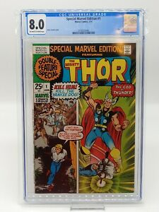 Special Marvel Edition #1 CGC 8.0 Thor Cover! Pristine Slab, Combined Shipping!