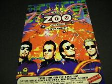 U2 Zoo is LIVE From Sydney original 1985 music biz PROMO DISPLAY ADVERT mint con