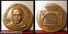 1941 Médaille Bronze M Kolbe Poland Germany WW2 Camps franciscain Auschwitz