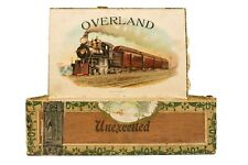 """Rare Canadian 1910s """"Overland"""" cedar 50 cigar box is in excellent condition"""