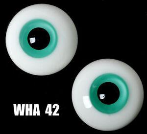 NICE 8mm BlueGreen Glass Eyes for OOAK BJD Dollfie