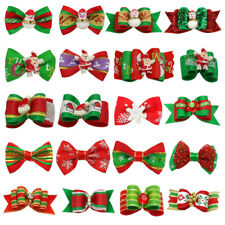20pcs Christmas Pet Grooming Bows Cat Grooming Pretty Bow for Long Hair Pet Show