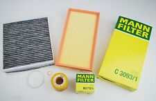 MANN Ölfilter Luftfilter + Pollenfilter VW Polo 9N 1,2l 12V 64PS AZQ BME