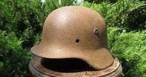 Original-Authentic WW2 WWII Relic German helmet Wehrmacht  #107