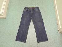 """Lambretta Straight Jeans Waist 34"""" Leg 29"""" Faded Dark Blue Mens Jeans"""