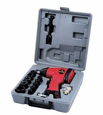 "1/2"" Drive Air Impact Wrench Tool 17Pc Socket Set Compressor Garage Bodyshop"