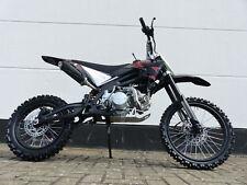 4125ccm Dirtbike Cross Dirt bike Pocket Enduro Pitbike 125cc 17/14 Zoll Schwarz