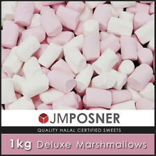 Large Pink & White Marshmallows - 1 Kg Bag of Soft Marshmallow Sweets- HALAL