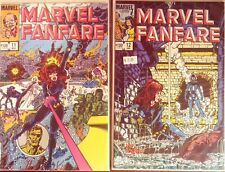 Marvel Fanfare #11,#12 1st app Iron Maiden, Black Widow Vfnm
