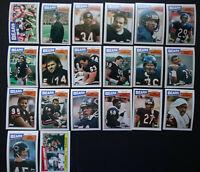 1987 Topps Chicago Bears Team Set of 21 Football Cards
