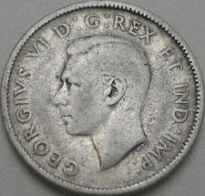 1943 25C Canada 25 Cents, Canadian Quarter, Silver Quarter, Silver, #11146