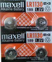 Pila MAXELL LR1130 AG10 189 - Alcalina - Calculadora - Reloj - Pack De 4 Pilas