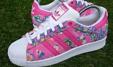 BNWB Genuino Adidas Originals & xfarm Company Wom Superstar Zapatillas Floral Reino Unido 5