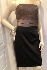 NWT Maria Bianca Nero Strapless Sz M Black & Gray Sequin Bodice/Cocktail Dress