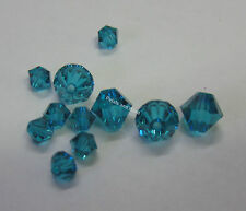 11 Blue Swarovski Crystal Beads 4mm & 6mm Bead For Beading & Jewellery TAR217