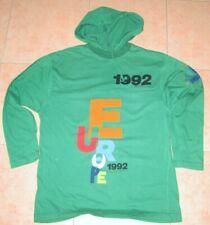 AMERICANINO Europe 1992 Felpa Sweater verde con cappuccio taglia S