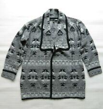 Nueva chaqueta para mujer Patrón Negro Gris Navajo UK Tamaño Medio EU 40 42 geométrica