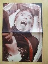 """Christopher Lee """"Dracula"""" Autogramm signed Poster 28x41 cm gefaltet"""