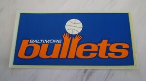 Vintage Baltimore Bullets dual purpose Sticker Decal - NM and unused