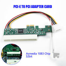 Asmedia 1083 Chip Adapter Card PCIE to PCI Expansion Assembly 32bit 4 Pin ATA