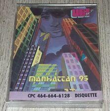 """RARE JEU DISQUETTE COMPLET """"MANHATTAN 95""""  /UBI SOFT /VINTAGE/AMSTRAD CPC 6128"""