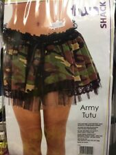 MILITARY CAMOUFLAGE ARMY GIRL TUTU Adults Ladies Womens Fancy Dress Costume